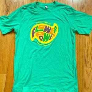 Ithaca Beer Company Flower Power Green Tshirt